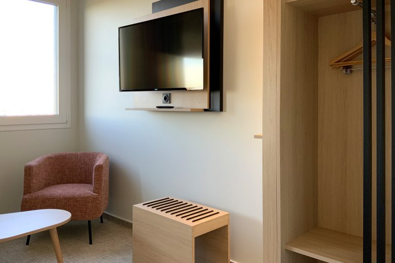 A l'Akena Hôtel Troyes, les chambres sont très bien agencées