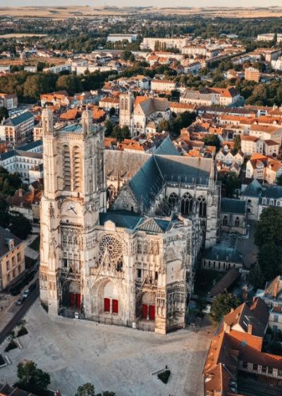 Post instagram Troyes vue du ciel